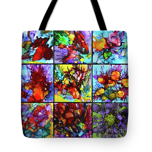 Floral Air Tote Bag by Alene Sirott-Cope