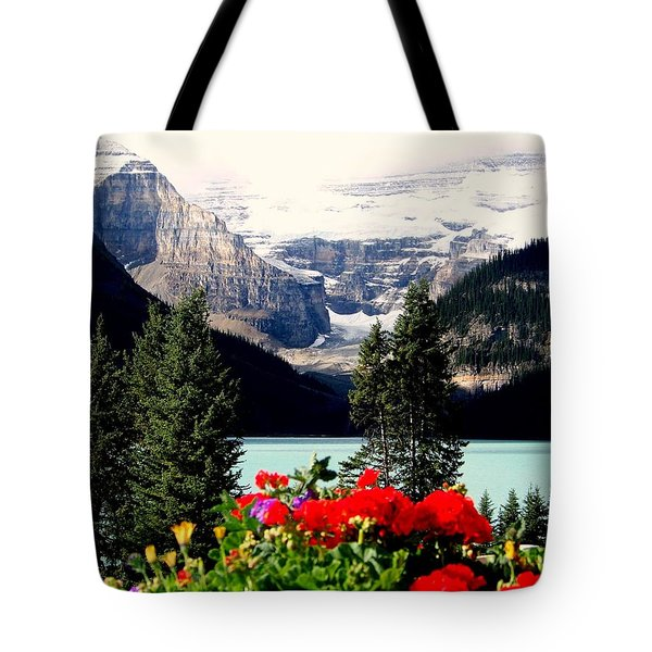 Floral And Ice Tote Bag by Karen Wiles
