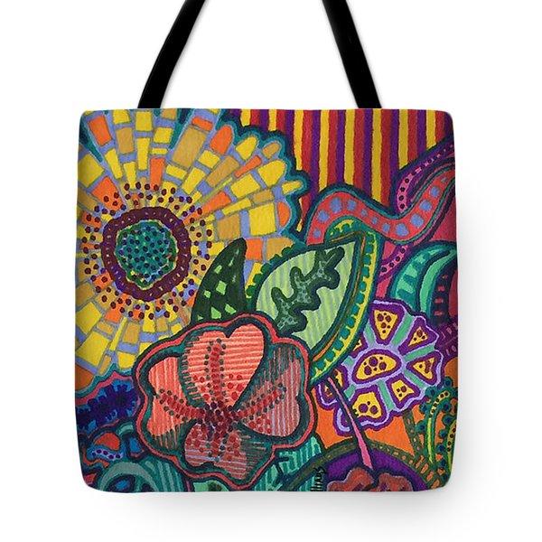 Floral Awakening Tote Bag