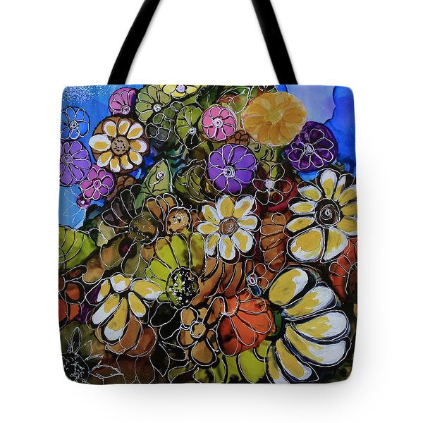 Floral Boquet Tote Bag by Suzanne Canner
