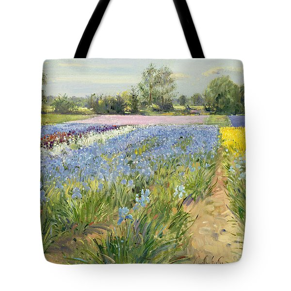 Floral Chessboard Tote Bag