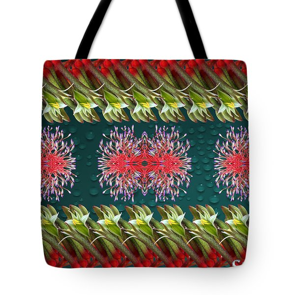 Floral Contemporary Art Tote Bag