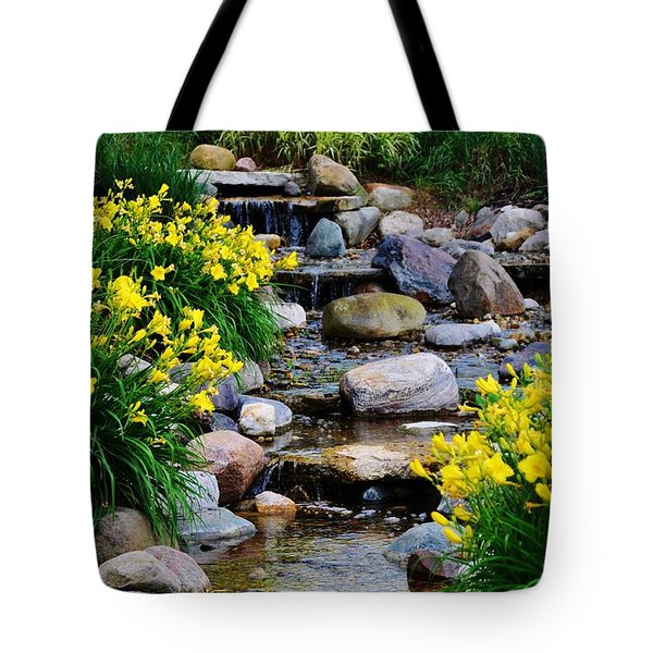 Floral Creek Tote Bag