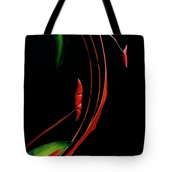 Floral Curve Tote Bag by Charline Xia