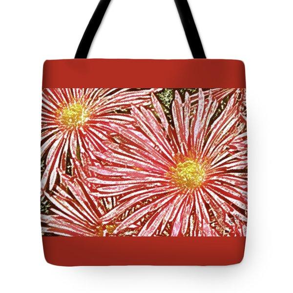 Floral Design No 1 Tote Bag by Ben and Raisa Gertsberg
