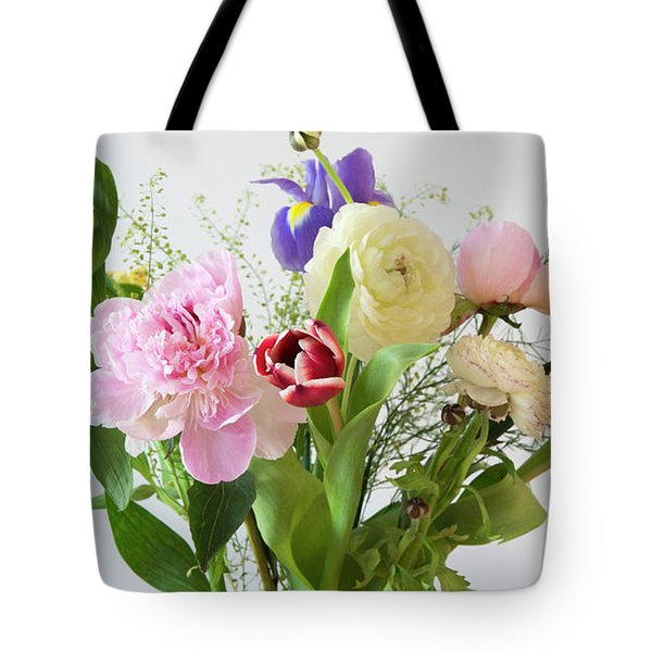 Tote Bag featuring the photograph Floral Display by Wendy Wilton