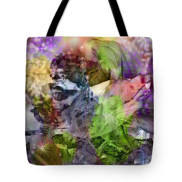 Tote Bag featuring the digital art Floral Dream Of Oriental Beauty by Silva Wischeropp