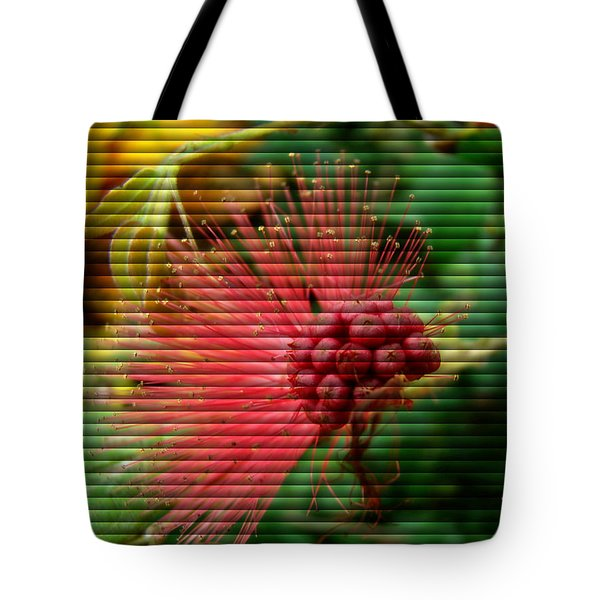 Tote Bag featuring the photograph Floral Fan by Sue Melvin
