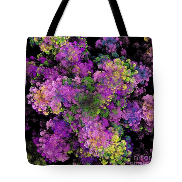 Tote Bag featuring the digital art Floral Fancy Abstract by Andee Design