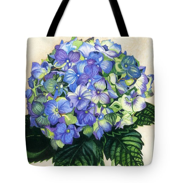 Tote Bag featuring the painting Floral Favorite by Barbara Jewell