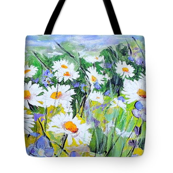 Floral Field Tote Bag