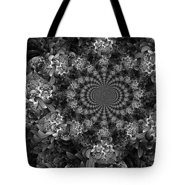 Floral Fractal 1 Tote Bag