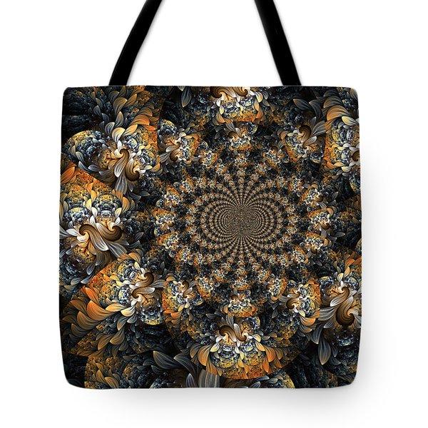 Floral Fractal 2 Tote Bag