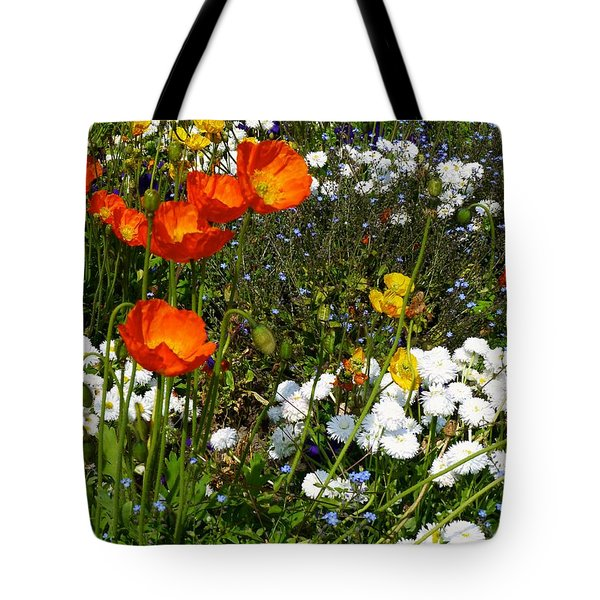 Floral Garden Bastion Park Switzerland Tote Bag