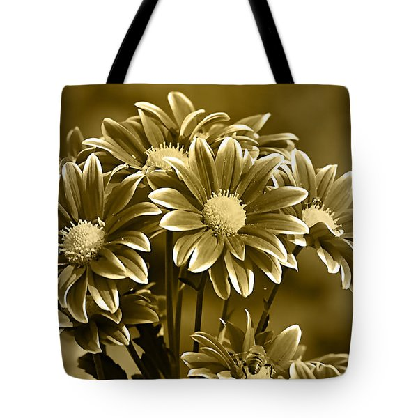 Floral Gold Collection Tote Bag by Marvin Blaine