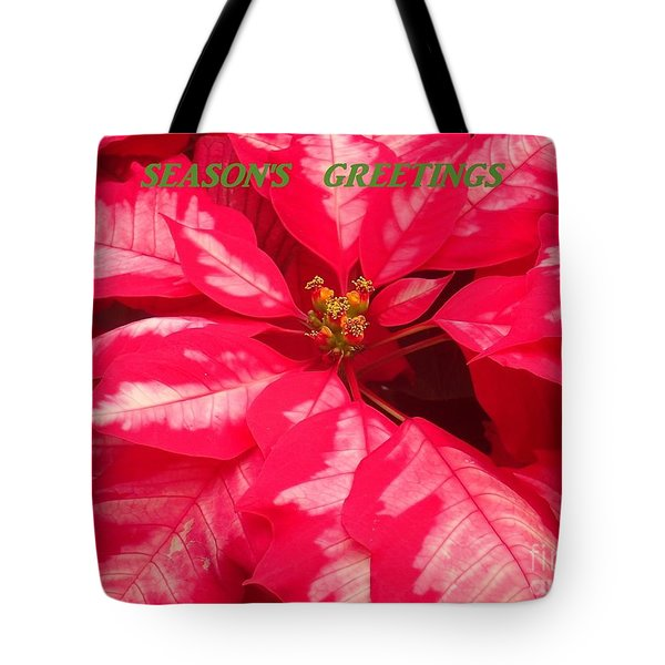 Floral Greetings Tote Bag