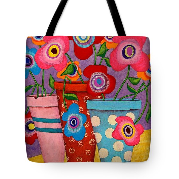 Floral Happiness Tote Bag by John Blake