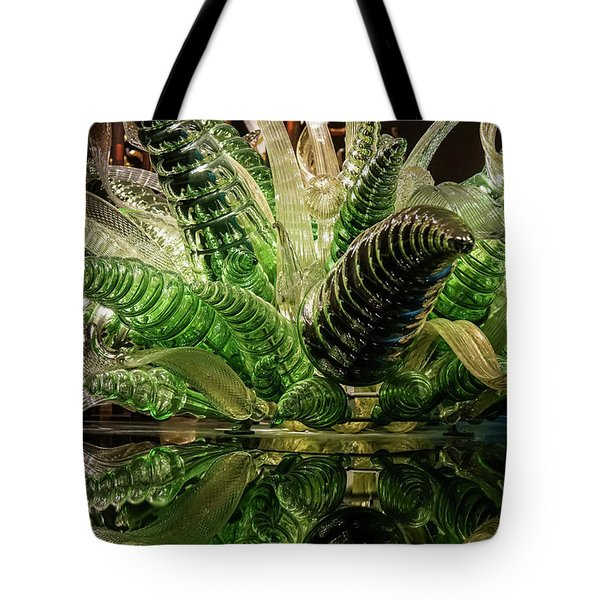 Floral In Glass Tote Bag