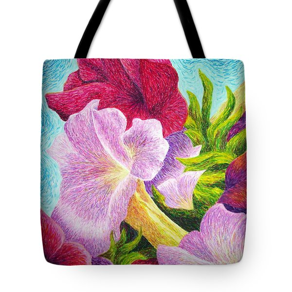 Floral In Pinks Tote Bag
