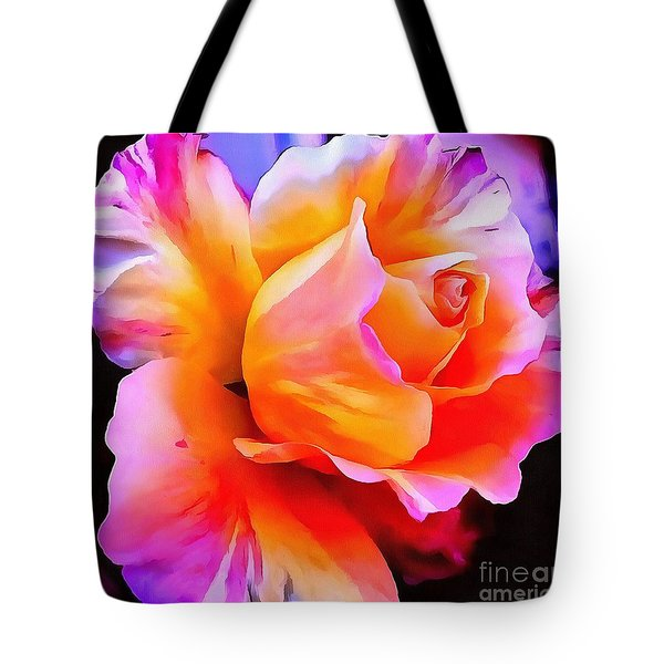 Floral Interior Design Thick Paint Tote Bag