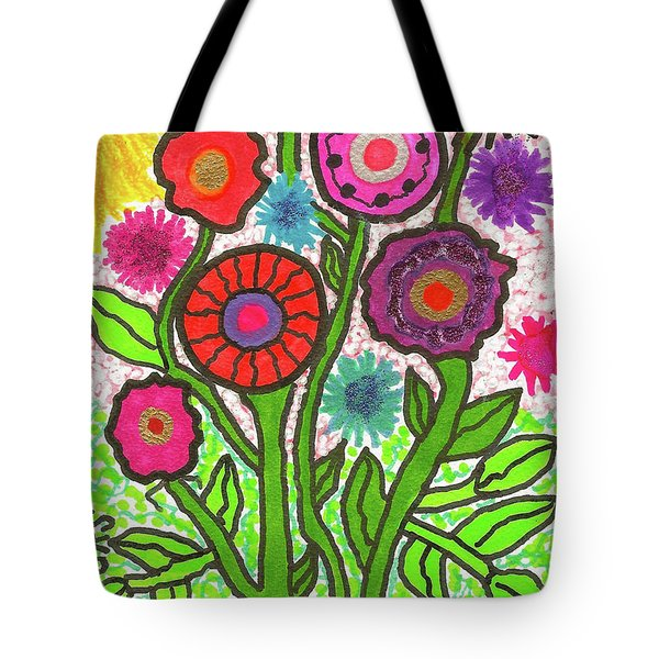 Floral Majesty Tote Bag