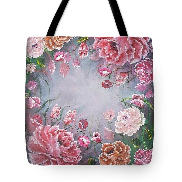 Floral Enchanting Roses Tote Bag