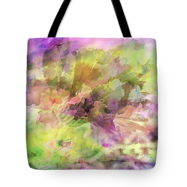 Floral Pastel Abstract Tote Bag by Mikki Cucuzzo