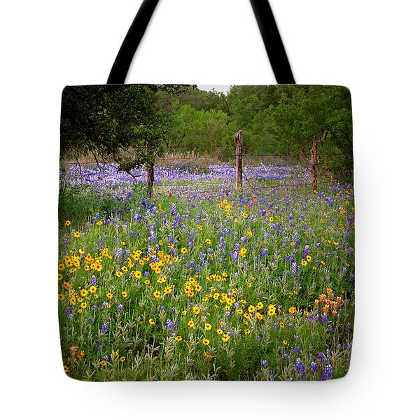 Floral Pasture No. 2 Tote Bag by Jon Holiday