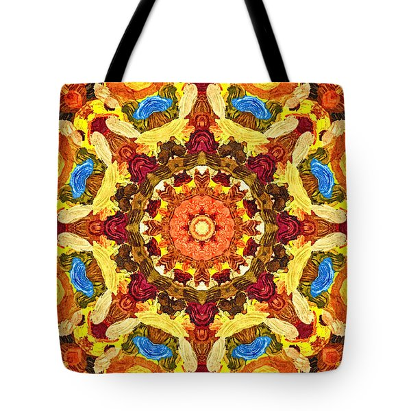 Mandala Of The Sun Tote Bag