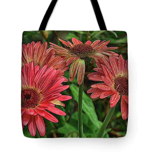Tote Bag featuring the photograph Floral Pink by Deborah Benoit