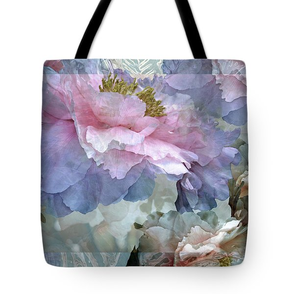 Floral Potpourri With Peonies 24 Tote Bag