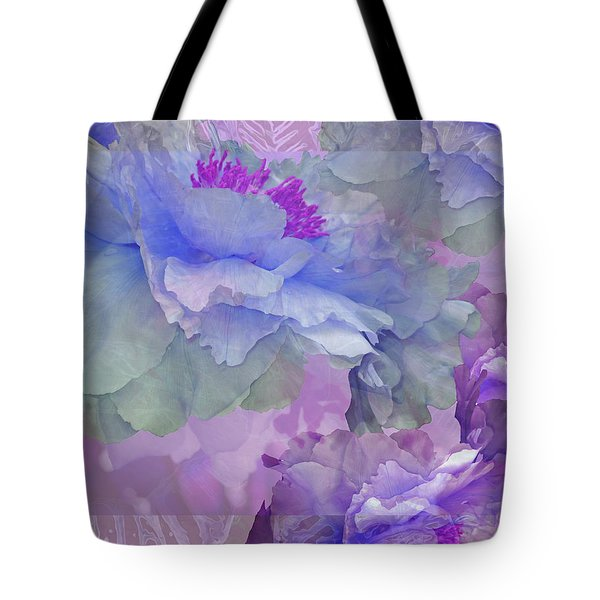 Floral Potpourri With Peonies 4 Tote Bag