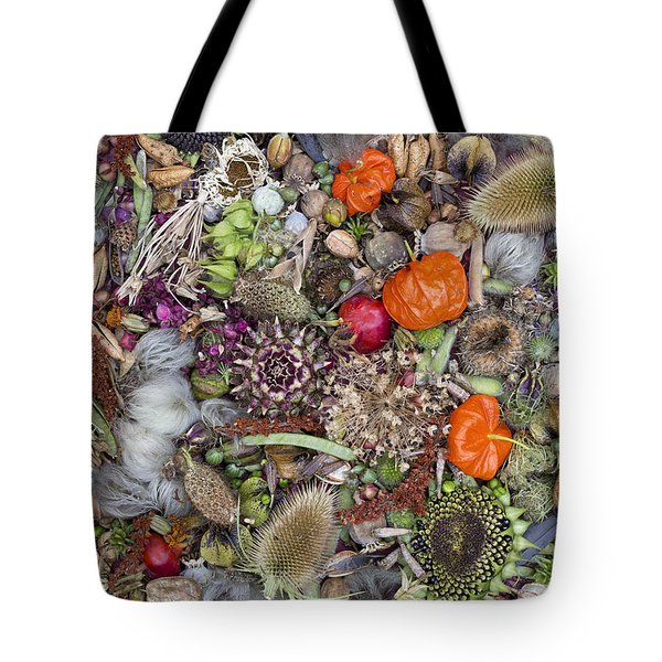 Floral Seed Pods Tote Bag