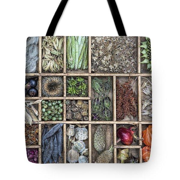 Floral Seeds Tote Bag