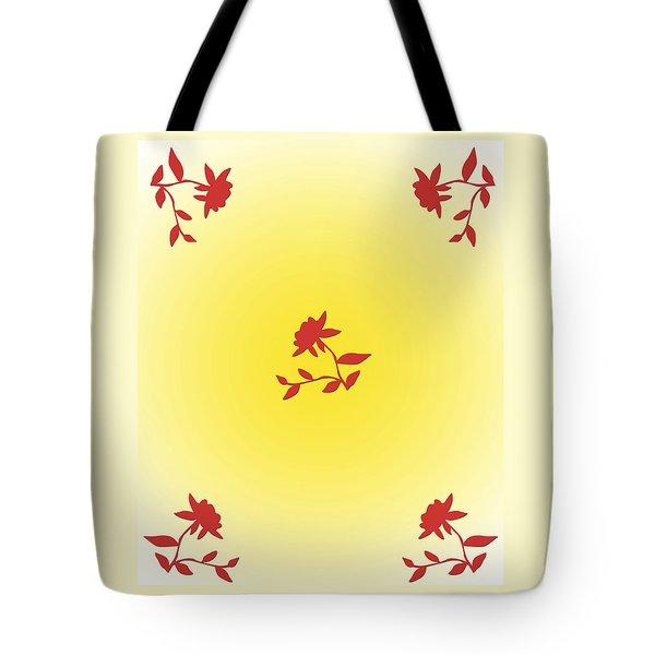 Floral Simplicity Tote Bag by Karen Nicholson