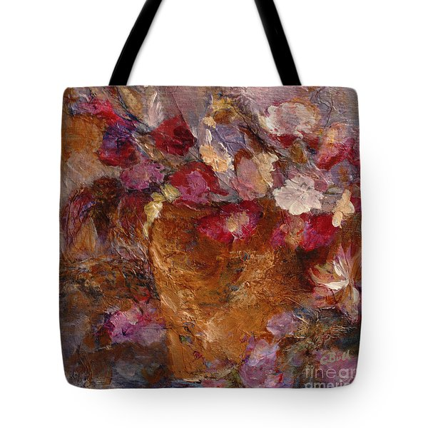 Floral Still Life Pinks Tote Bag