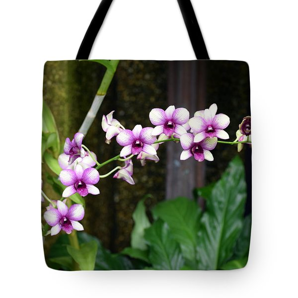 Tote Bag featuring the photograph Floral Sway by Deborah  Crew-Johnson