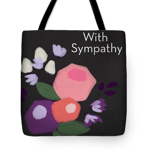 Floral Sympathy Card- Art By Linda Woods Tote Bag