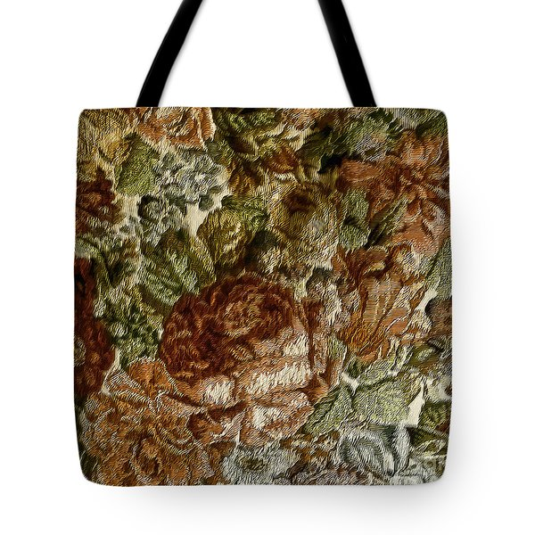Floral Tapestry-2 Tote Bag by Nancy Marie Ricketts