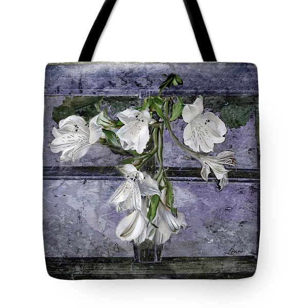 Tote Bag featuring the photograph Floral Window Frame by Bonnie Willis