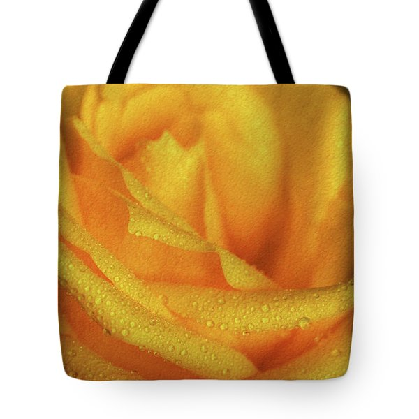 Tote Bag featuring the photograph Floral Yellow Rose Blossom by Shelley Neff