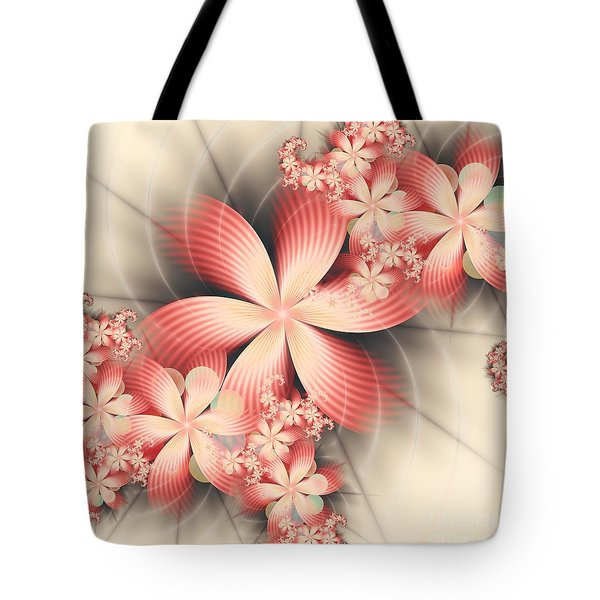 Tote Bag featuring the digital art Floralina by Michelle H