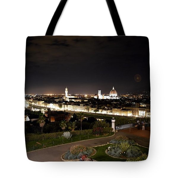 Florence At Night Tote Bag