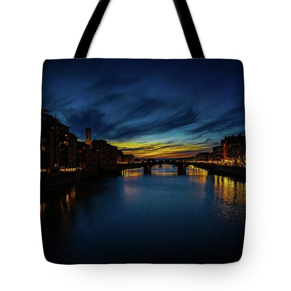 Florence At Sunset Tote Bag
