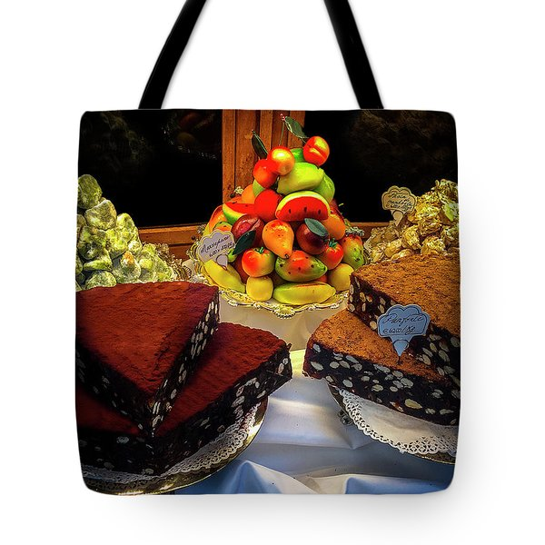 Tote Bag featuring the photograph Florence Bakery by Andrew Soundarajan