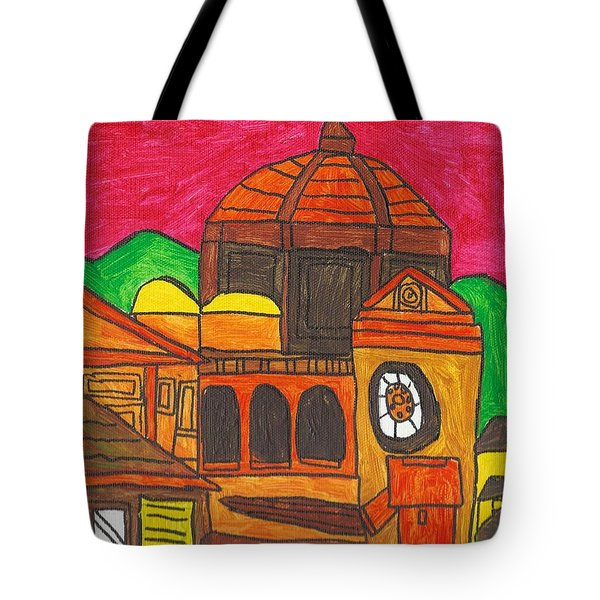 Tote Bag featuring the painting Florence by Artists With Autism Inc