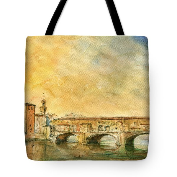 Florence Bridge Ponte Vecchio Tote Bag