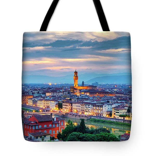 Tote Bag featuring the photograph Florence by Fabrizio Troiani