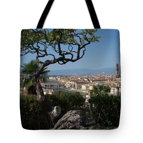 Tote Bag featuring the photograph Florence From Fiesole by Caroline Stella