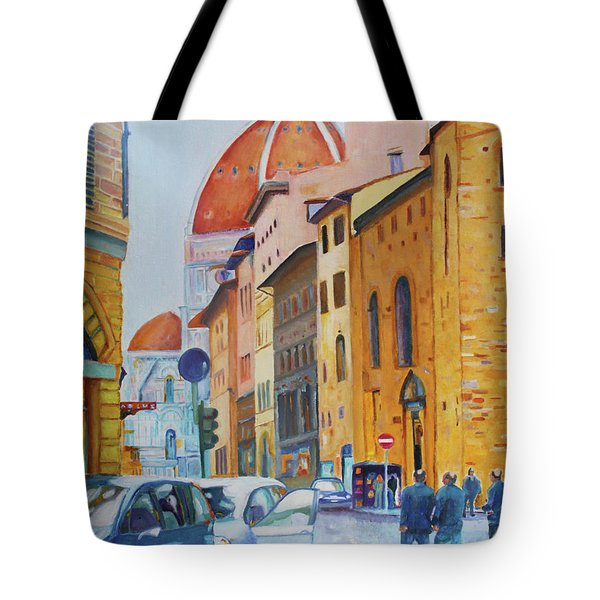 Florence Going To The Duomo Tote Bag